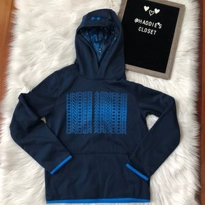Boys Youth Large Under Armour blue hoodie NWT